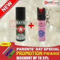 Parents' day Special Promotion Pepper Spray Package - 60ml + 20ml Pepper spray with FREE SHIPPING !